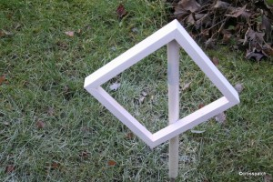 spray painted frame