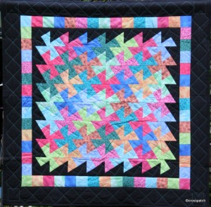 Mulitcoloured Twister quilt