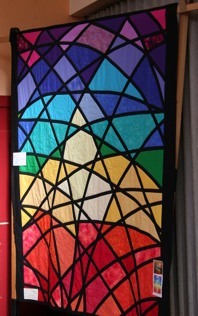 stained glass window quilt