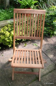 chair before teak oil