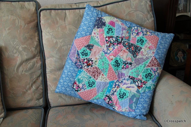 crazy cushion finished...ish