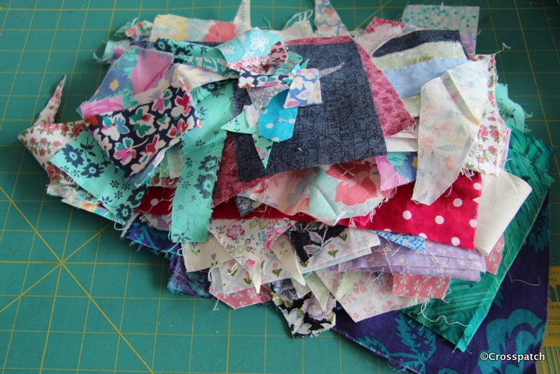Crazy patchwork cushion